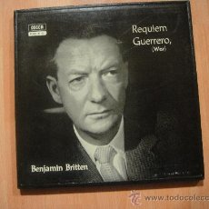 Discos de vinilo: BENJAMIN BRITTEN REQUIEM GUERRERO CAJA CON 2 LP + LIBRETO. Lote 27412429