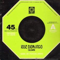 Discos de vinilo: JOSÉ DOMINGO CASTAÑO - NIÑA DE POCOS AÑOS - MAXISINGLE 1977. Lote 23742997