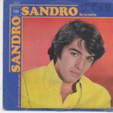 Discos de vinilo: SANDRO,SE TE NOTA DEL 70. Lote 23712442