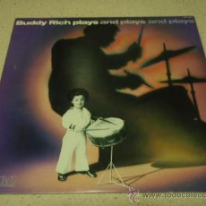 Discos de vinilo: BUDDY RICH 'BUDDY RICH PLAYS AND PLAYS AND PLAYS...' CANADA-1977 LP33 RCA RECORDS. Lote 23786759