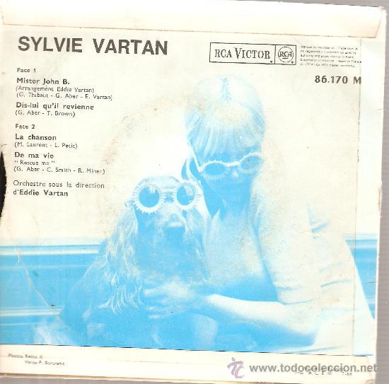 Discos de vinilo: 2 EP´S SYLVIE VARTAN : MISTER JOHN B. + SI JE CHANTE - Foto 2 - 23797176