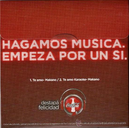 CD SENCILLO ARGENTINO DE MAKANO REGGAETÓN + COCA COLA AÑO 2010 (Música - Discos de Vinilo - Maxi Singles - Grupos y Solistas de latinoamérica)