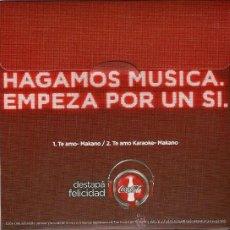 Discos de vinilo: CD SENCILLO ARGENTINO DE MAKANO REGGAETÓN + COCA COLA AÑO 2010. Lote 26595688