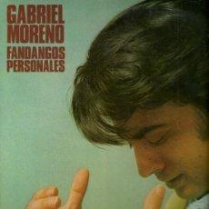 Discos de vinilo: GABRIEL MORENO LP SELLO HISPAVOX AÑO 1978 FANDANGOS PERSONALES. Lote 23843001