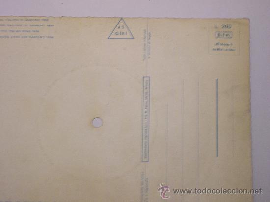 Discos de vinilo: DISCO FESTIVAL SAN REMO 1958 - JO SONO TE - Fonoscope - La Cetulina que canta - Foto 5 - 25259997