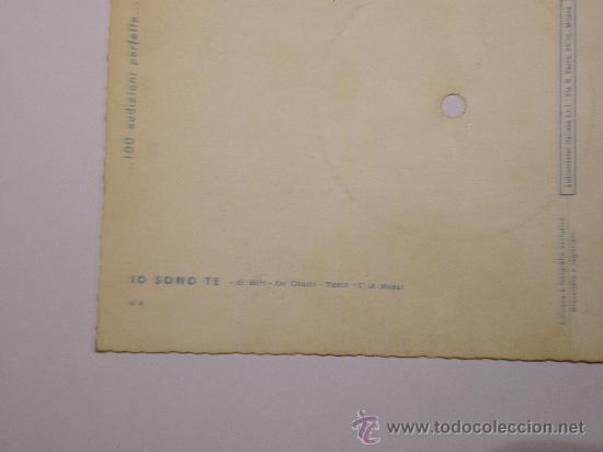 Discos de vinilo: DISCO FESTIVAL SAN REMO 1958 - JO SONO TE - Fonoscope - La Cetulina que canta - Foto 4 - 25259997
