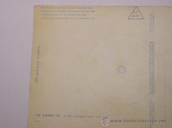 Discos de vinilo: DISCO FESTIVAL SAN REMO 1958 - JO SONO TE - Fonoscope - La Cetulina que canta - Foto 6 - 25259997