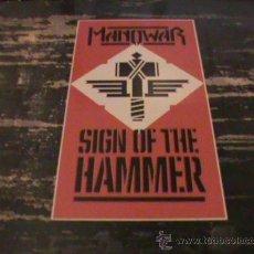 Discos de vinilo: MANOWAR SING OF THE HAMMER LP . Lote 26780798