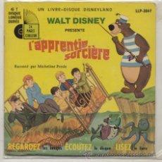 Discos de vinilo: SINGLE CON LIBRO 45 RPM / L`APPRENTIE SORCIERE . Lote 23874423