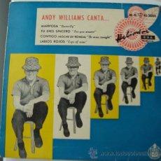 Discos de vinilo: ANDY WILLIAMS - MARIPOSA - EP DE 1959. Lote 23875660