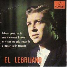 Discos de vinilo: EL LEBRIJANO - COLUMBIA 1965 - GUITARRA NIÑO RICARDO. Lote 23899621