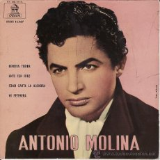 Discos de vinilo: ANTONIO MOLINA - BENDITA TIERRA - ODEON 1962. Lote 27417947
