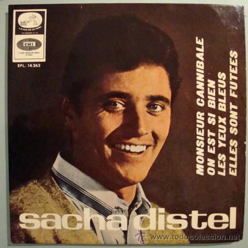 SACHA DISTEL - MONSIEUR CANNIBALE - EP 1966 (Música - Discos de Vinilo - EPs - Canción Francesa e Italiana)