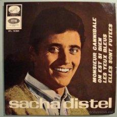 Discos de vinilo: SACHA DISTEL - MONSIEUR CANNIBALE - EP 1966. Lote 23902897