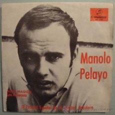 Disques de vinyle: MANOLO PELAYO - FESTIVAL DE BENIDORM - SINGLE : ALGO MAGICO- UN HOMBRE. Lote 23903025
