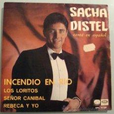 Discos de vinilo: SACHA DISTEL CANTA EN ESPAÑOL - INCENDIO EN RÍO + 3 TEMAS - E.P. 45 RPM - 1967. Lote 23906125