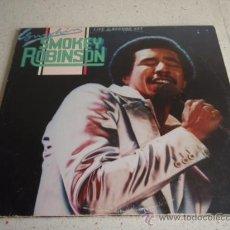 Discos de vinilo: SMOKEY ROBINSON ( SMOKIN' ) DOBLE LP33 CALIFORNIA-USA 1978 MOTOWN RECORDS. Lote 23909625