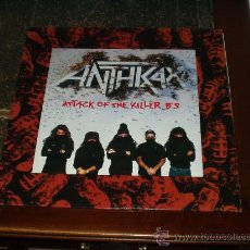 Discos de vinilo: ANTHRAX LP ATTACK OF THE KILLER B'S HEAVY METAL. Lote 27376376
