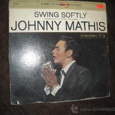 Discos de vinilo: JOHNNY MATHIS LP SWING SOFTLE ORIGINAL USA COLUMBIA VER FOTO ADICIONAL. Lote 23926667