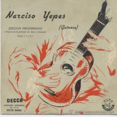 Discos de vinilo: NARCISO YEPES,JUEGOS PROHIBIDOS. Lote 23937726
