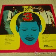 Discos de vinilo: 'THAT'S SOUL 3' SOLOMON BURKE,ARTHUR CONLEY,WILSON PICKETT,OTIS REDDING,SAM & DAVE,KING CURTIS.... Lote 23950919