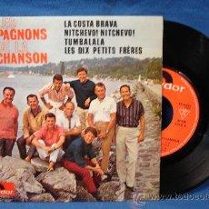 Discos de vinilo: - LES COMPAGNONS DE LA CHANSON - LA COSTA BRAVA + 3 - POLYDOR MADE IN FRANCE - PEP 5749 - DIFICIL. Lote 23970098