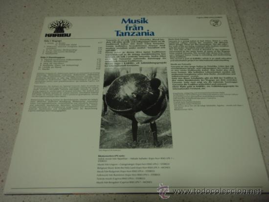 Discos de vinilo: MUSIK FRAN TANZANIA 11 CANCIONES 1974 LP33 CAPRICE - Foto 2 - 27706597