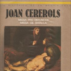 Discos de vinilo: LP JORDI SAVALL & LA CAPELLA REIAL : MISSA PRO DEFUNTIS + MISSA DE BATALLA . Lote 23968647
