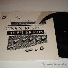 Discos de vinilo: GUNS N' ROSES / NOVEMBER RAIN - EP 3 TEMAS ED. LIMITADA CON LOGO DE LA BANDA GRABADO EN EL VINILO!!!. Lote 27105614