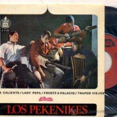 Dischi in vinile: EP PORTUGAL: LOS PEKENIKES; ARENA CALIENTE + FRENTE A PALACIO +2. Lote 27048787