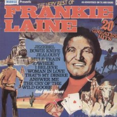 Discos de vinilo: FRANKIE LAINE- THE VERY BEST OF. Lote 24014747