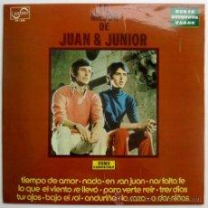 Discos de vinilo: JUAN & JUNIOR – LO MEJOR – LP PROMO SPAIN 1972 – ZAFIRO ZV-690. Lote 24041911