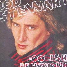 Discos de vinilo: ROD STEWART-FOOLISH BEHAVIOUR-LP1980-SUPERPOSTER DOS CARAS-. Lote 24064316
