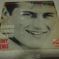 Discos de vinilo: TONY RENIS 'SAN REMO 1962' (QUANDO,QUANDO,QUANDO - BLU - AMOR,AMOR,AMOR - TANGO PER FAVORE) EP45. Lote 24062266