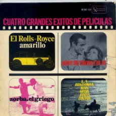Discos de vinilo: GRANDES EXITOS DE PELICULAS VOL 4. - AL CAIOLA / DR. NO (JAMES BOND) TEMAS EN PORTADA (EP65). Lote 287982933
