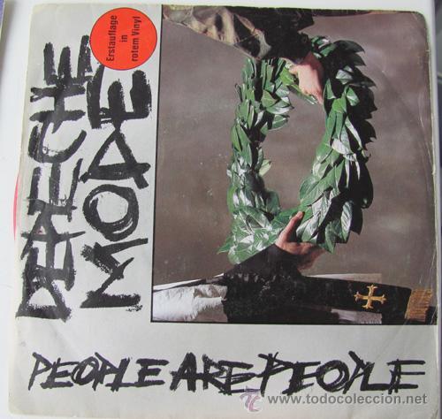 DEPECHE MODE - PEOPLE ARE PEOPLE - SINGLE ALEMAN VINILO ROJO!! (Música - Discos - Singles Vinilo - Techno, Trance y House)