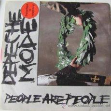 Disques de vinyle: DEPECHE MODE - PEOPLE ARE PEOPLE - SINGLE ALEMAN VINILO ROJO!!. Lote 24099033