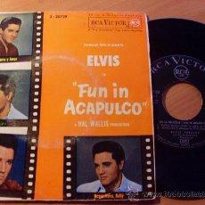 Disques de vinyle: ELVIS PRESLEY ( FUN IN ACAPULCO ) EP SPAIN (EPI02). Lote 40723057