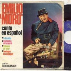 Disques de vinyle: EP 45 RPM / EMILIO EL MORO ( EUROVISION ) MARIONETAS EN LA CUERDA . Lote 24120772