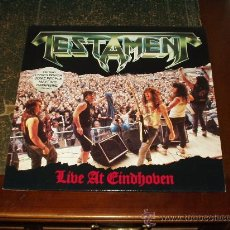 Discos de vinilo: TESTAMENT LP LIVE AT EINDHOVEN HEAVY METAL. Lote 27574994
