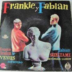 Disques de vinyle: FRANKIE AVALON Y FABIAN - EP DE 1959 . Lote 24131442