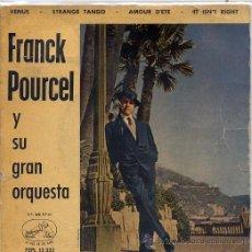 Discos de vinilo: FRANCK POURCEL / VENUS (TEMAS EN PORTADA) EP. Lote 24134298