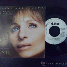 Discos de vinilo: BARBRA STREISAND, THE WAY HE MAKES ME FEEL. SINGLE PROMOCIONAL ESPAÑA. Lote 27002135