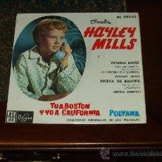 Discos de vinilo: HAYLEY MILLS EP VAYAMOS JUNTOS+3 (B.S.O TU A BOSTON Y YO A CALIFORNIA). Lote 24202651