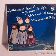 Discos de vinilo: SINGLE (VILLANCICOS) PHILIPS - 1958 (REF. 421272 PE). Lote 24205758