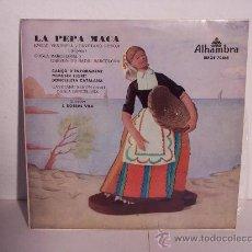 Discos de vinilo: SINGLE LA PEPA MACA (SARDANA)DE CECILIA A M./ J.TORRENT - ALHAMBRA - 1958 (REF. EMGE 70865). Lote 24206271