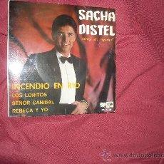 Discos de vinilo: SACHA DISTEL CANTA EN ESPAÑOL EP INCENDIO EN RIO EPL 14339 EMI 1967. Lote 24208879