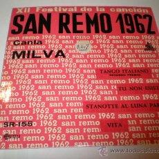 Discos de vinilo: SINGLE SAN REMO 1962. Lote 25980897