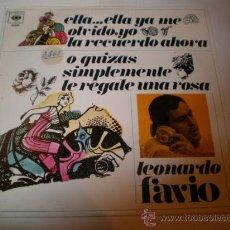 Discos de vinilo: SINGLE DE LEONARDO FAVIO. Lote 26495166