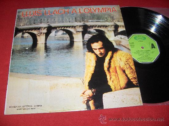 LLUIS LLACH A L'OLYMPIA LP 1973 MOVIEPLAY PORTADA SENCILLA (Música - Discos - LP Vinilo - Solistas Españoles de los 50 y 60)